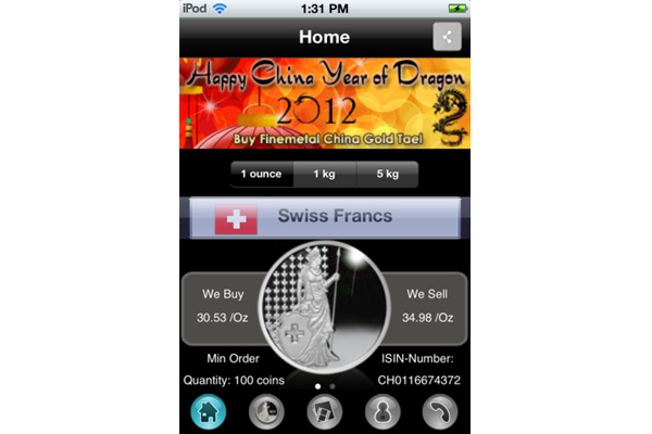 iSilverCoin_iPhone_App_home_Finemetal